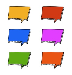 Square doodle speech bubbles vector