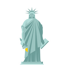 statue of liberty sad sorrowful landmark america vector image