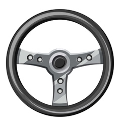 Steering wheel icon isometric 3d style vector