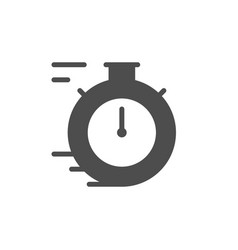 stopwatch glyph icon and time concept vector image