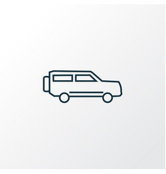 suv icon line symbol premium quality isolated vector image