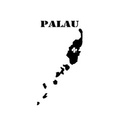 Symbol of isle of palau and map vector