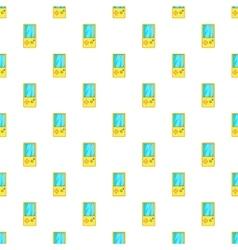 Tetris pattern cartoon style vector