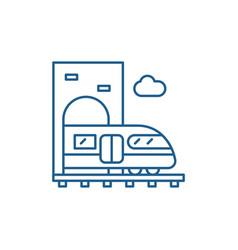 train line icon concept train flat symbol vector image
