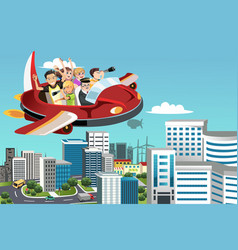 Traveling people vector