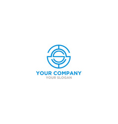 Triple s in circle logo design vector