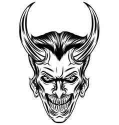 vampire with two sharp horns vector image