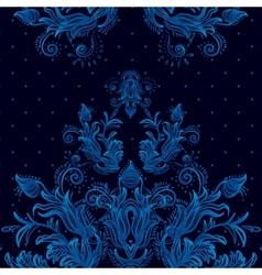 Vintage background baroque pattern vector