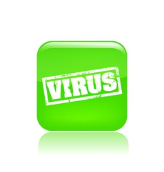virus icon vector image