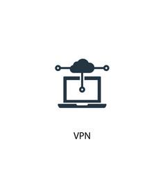 Vpn icon simple element vpn concept vector