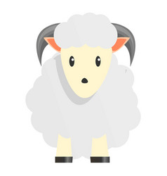 white sheep ram icon cartoon style vector image