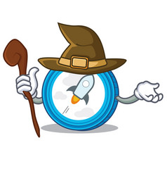 Witch stellar coin character cartoon vector