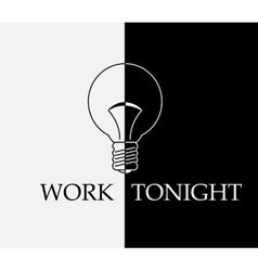 Work tonight vector