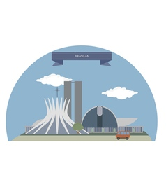 Brasilia vector image vector image