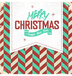christmas retro card vector image vector image
