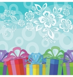 Holiday Background with Gift Boxes vector image vector image