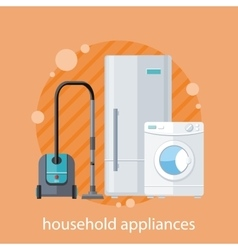 Household Appliances Flat Design vector image vector image
