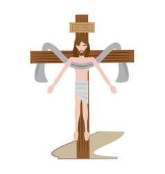 jesus christ sacred cross vector image