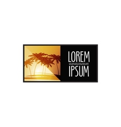 nature logo design template travel or Palm trees vector image