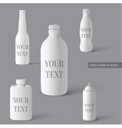 Set of bottles vector image vector image