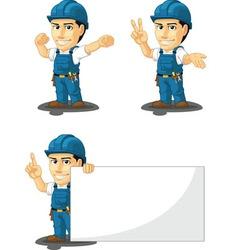 Technician or Repairman Mascot 7 vector image vector image