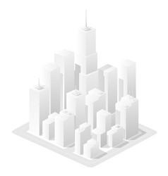 white landscape urban area vector image