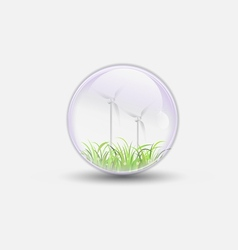 wind power bubble water clear vector image