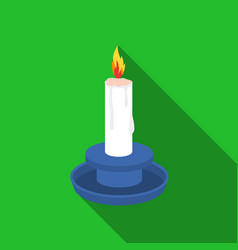 candle icon in flat style isolated on white vector image