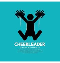 Cheerleader Graphic Symbol vector image vector image