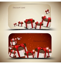Collection of discount cards with gifts background vector image