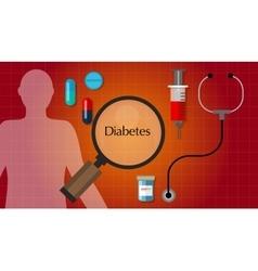 diabetes mellitus diabetic diagnosis medication vector image