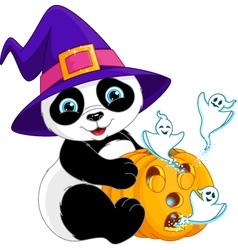 Panda Halloween vector image