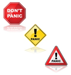 Panic signs vector image vector image