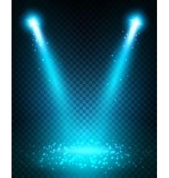 Spot light beams projection on floor vector