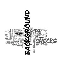when are background checks a good idea text word vector image