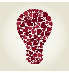 Bulb heart vector image vector image