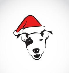 Dog and santa hats vector image vector image