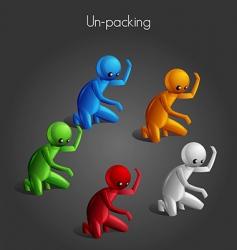 man unpack vector image vector image