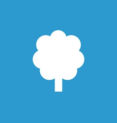 tree icon white on the blue background vector image vector image