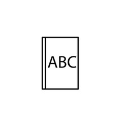 abc book icon vector image