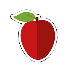 cartoon apple ripe fruit icon vector image