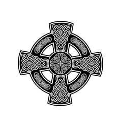 Celtic cross 2 vector