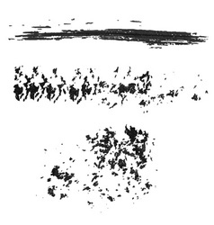 Different grunge brush strokes vector image vector image