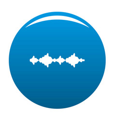 equalizer sound radio icon blue vector image