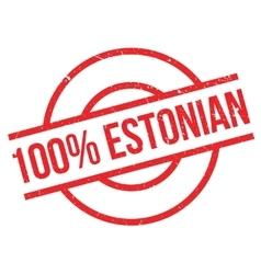 100 percent Estonian rubber stamp vector image