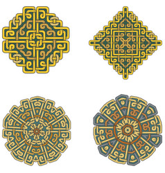 a set of beautiful celtic patterns vector image