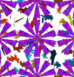 Abstract flowers from paint strokes vector