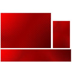 Abstract halftone background in red colors set vector
