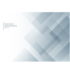 Abstract white and gray geometric square shape vector