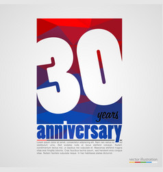 anniversary modern colorful abstract background vector image